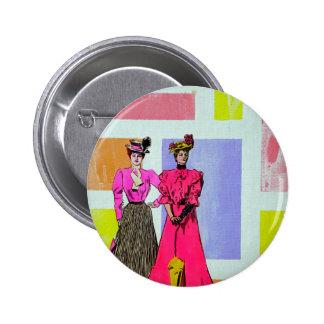 Chicas de Gibson en un modelo de Mondrian Pins