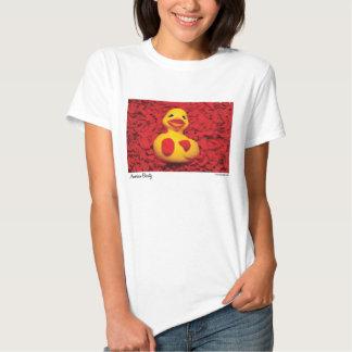 Chicas de goma de la camiseta del pato de la playeras