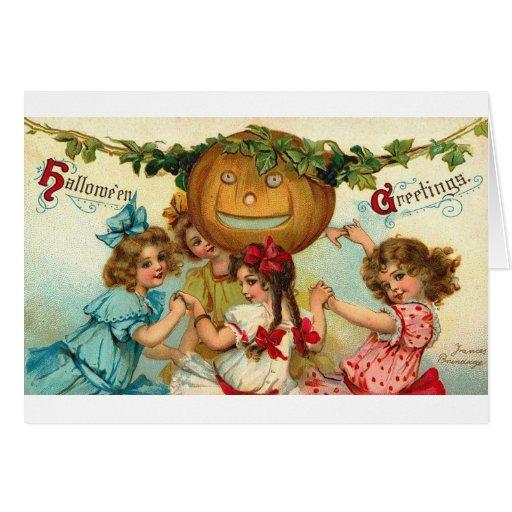 Chicas de Halloween Tarjeta
