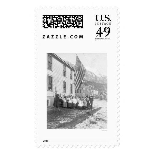 Chicas de hoguera Juneau Alaska 1915 Sello