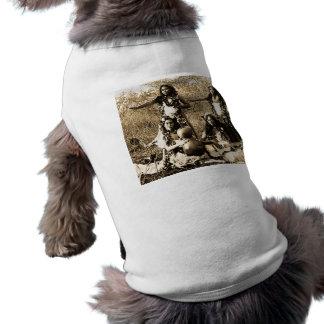 Chicas de Hula del vintage del territorio de Hawai Playera Sin Mangas Para Perro