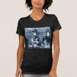 Chicas de Hula del vintage del territorio de Camiseta