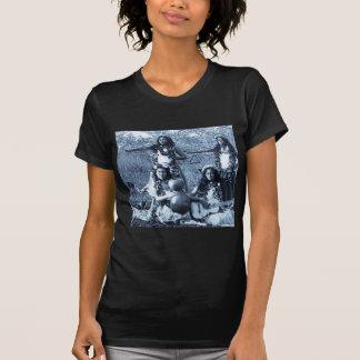 Chicas de Hula del vintage del territorio de Playera
