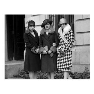 Chicas de la aleta, los años 20 de los gorras del postales