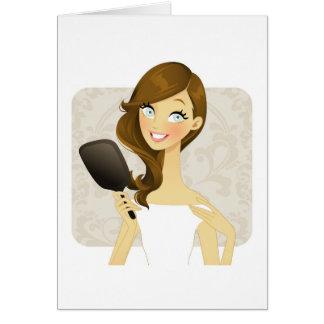 Chicas de la belleza (espejo) tarjeta de felicitación
