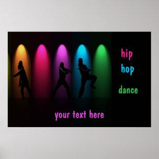 Chicas de la danza de Hip Hop en plantilla del pos Póster