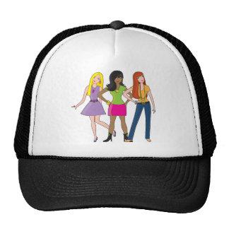 chicas de la moda gorras de camionero