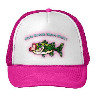 Chicas de la pesca gorro