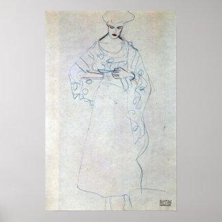 Chicas de Lesendes de Gustavo Klimt Posters