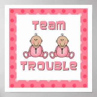 Chicas de los gemelos póster