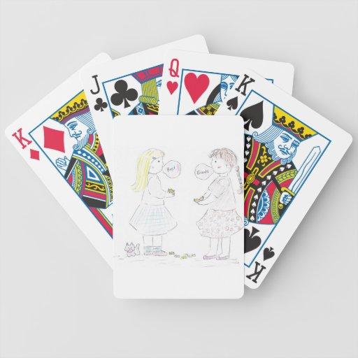 Chicas de los mejores amigos baraja cartas de poker