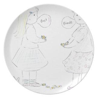 Chicas de los mejores amigos platos para fiestas