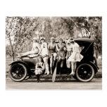 Chicas de Mack Sennett que bañan el vintage del Postal