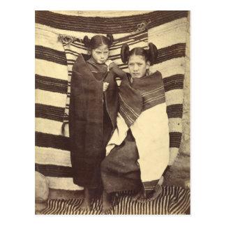 Chicas de Moki, 1879 Postal