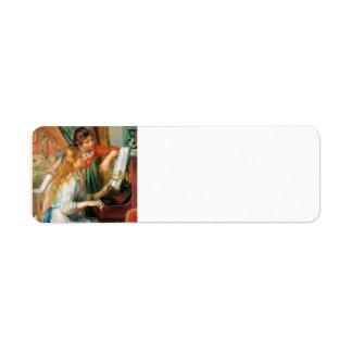 Chicas de Pedro-Auguste Renoir- en el piano Etiquetas De Remite