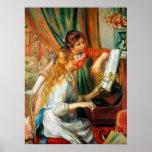 Chicas de Renoir en el poster del piano