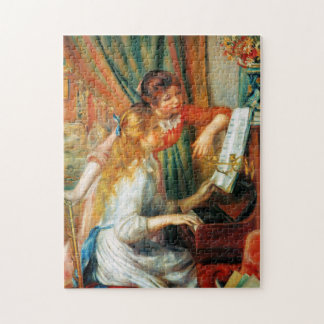 Chicas de Renoir en el rompecabezas del piano