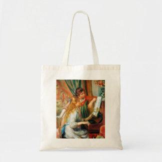 Chicas de Renoir en la bolsa de asas del piano
