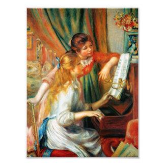 Chicas de Renoir en la impresión de la foto del pi Cojinete