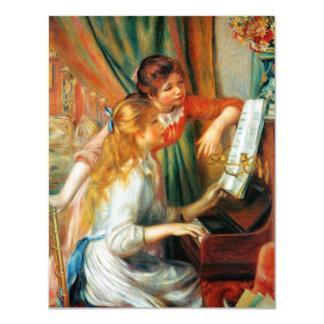 """Chicas de Renoir en las invitaciones del decreto Invitación 4.25"""" X 5.5"""""""