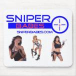 chicas de SniperBabes.com con el cojín de ratón de Tapete De Ratón