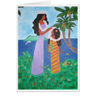Chicas de Tahití Tarjeta Pequeña