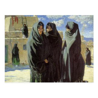 Chicas de Taos de Gualterio Ufer, nativo americano Tarjetas Postales