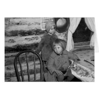 Chicas de Tipler Wisconsin, los años 30 Tarjeta