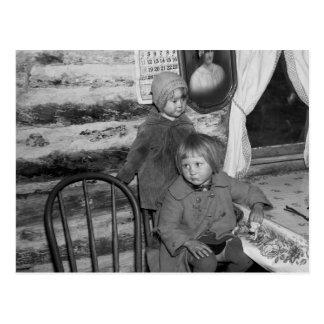 Chicas de Tipler Wisconsin, los años 30 Tarjeta Postal
