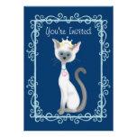 Chicas del ~ de princesa Kitty Cat Birthday Invita Invitaciones Personalizada