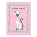 Chicas del ~ de princesa Kitty Cat Birthday Invita Invitaciones Personales