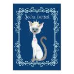Chicas del ~ de princesa Kitty Cat Birthday Invitaciones Personalizada