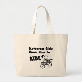 Chicas del motocrós bolsa tela grande