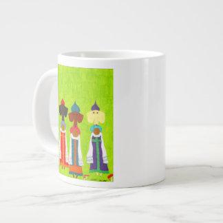 Chicas del pan y de la sal taza de café grande