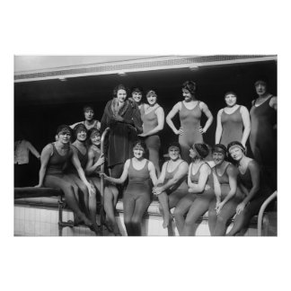 Chicas del Poolside, 1900s tempranos Posters