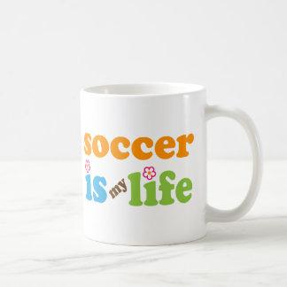 Chicas del regalo del jugador de fútbol taza
