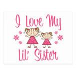 Chicas del rosa de la hermana de Lil del amor Tarjetas Postales