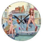 Chicas del viaje en París - reloj