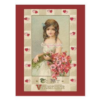 Chicas dulces de la tarjeta del día de San Postal