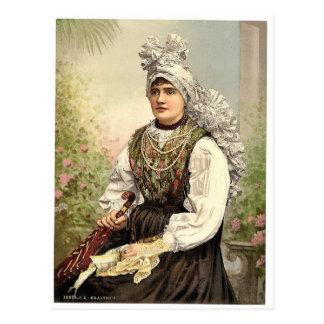 Chicas en el traje nativo, Carniola, Austro-Hungrí Postales