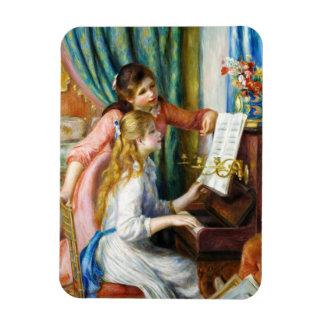 Chicas en la pintura de Pedro Auguste Renoir del p Imanes