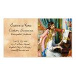 Chicas en la pintura de Pedro Auguste Renoir del p Tarjeta Personal