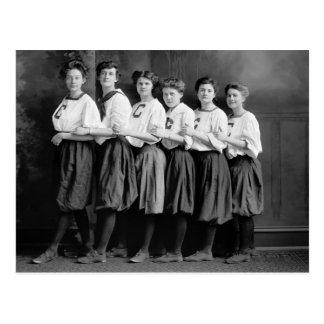 Chicas en los bombachos, 1900s tempranos postales