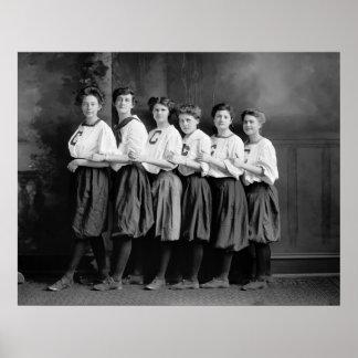 Chicas en los bombachos, 1900s tempranos póster