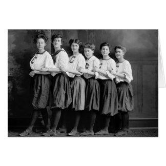 Chicas en los bombachos, 1900s tempranos tarjeta de felicitación