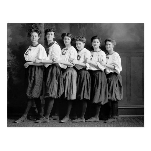Chicas en los bombachos, 1900s tempranos tarjetas postales