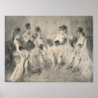 Chicas en un burdel poster