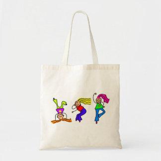 Chicas enrrollados bolsa tela barata