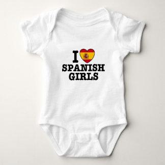 Chicas españoles body para bebé