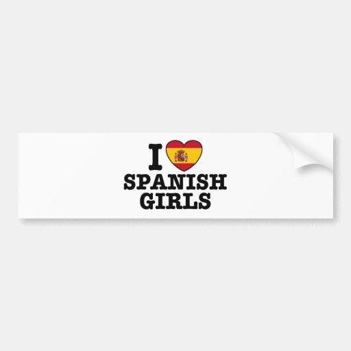 Chicas españoles etiqueta de parachoque
